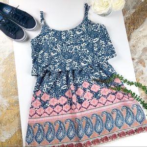 ABERCROMBIE & FITCH Strap Print Dress Size XS